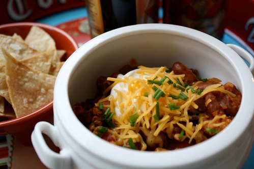 Turkey Chili and Chips