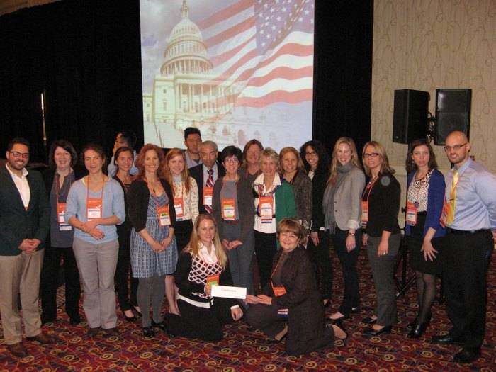 Members of the California Dietetic Association at the Public Policy Workshop