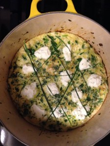 Goat Cheese Fritata