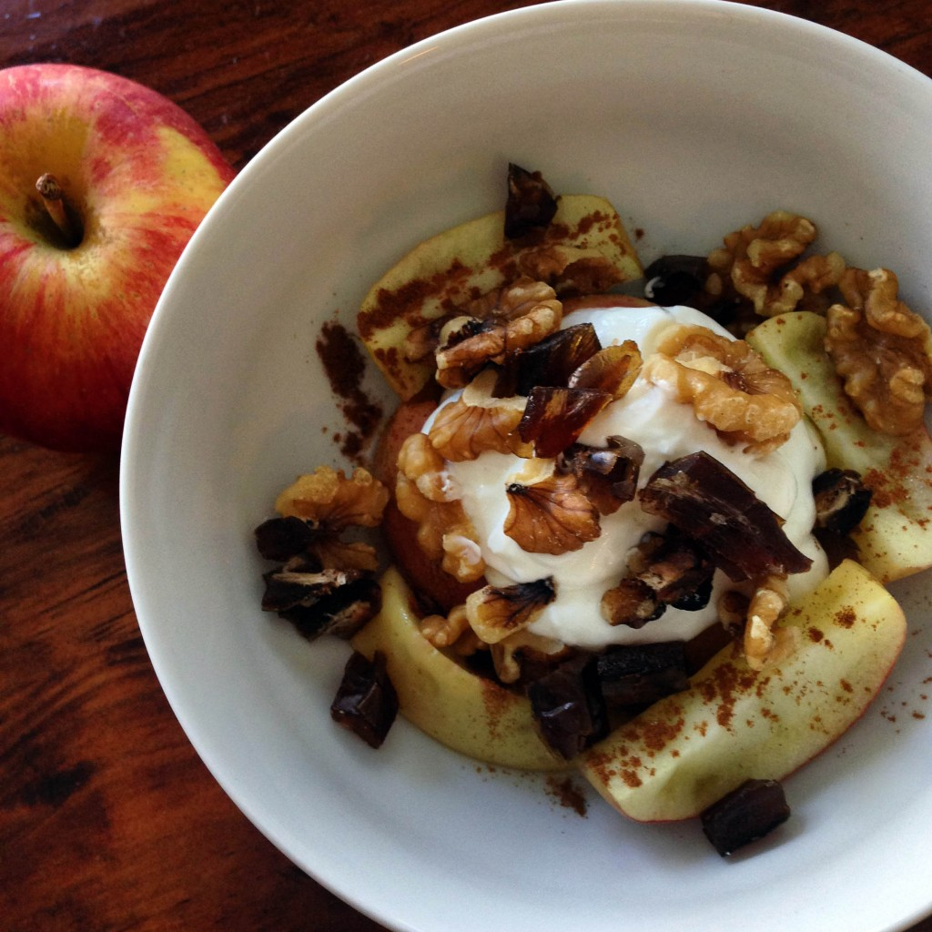A healthy snack that tastes like apple pie...so...yeah you should go ahead and make that.