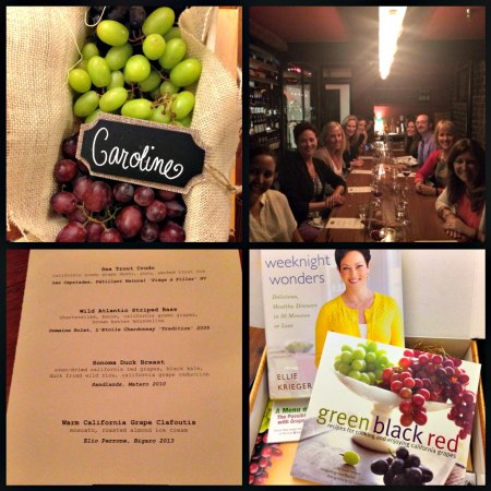 Dinner with the California Table Grape Commission at Republique in LA
