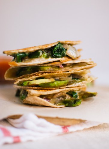 17. Crispy Mushroom, Spinach and Avocado Quesadilla – Cookie + kate