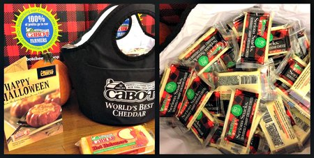 Cabot sent me a cooler bag full of 80-calorie snack size cheddars and my husband and I have wasted no time breaking into them :) (I am a member of the Cabot Cheese Board and they send me free products, but all opinions are my own)